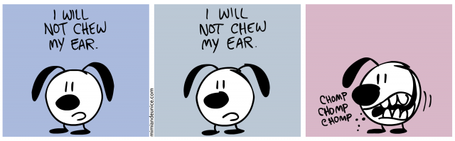 i will not chew my ear / i will not chew my ear