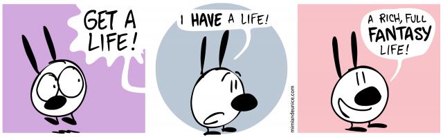 get a life / i have a life / a rich full fantasy life